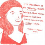 Illustration of Merritt Pierce by Last  Night's Reading