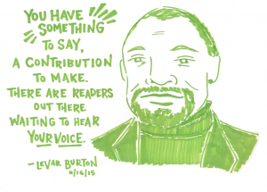 Illustration of LeVar Burton by Last Night's Reading