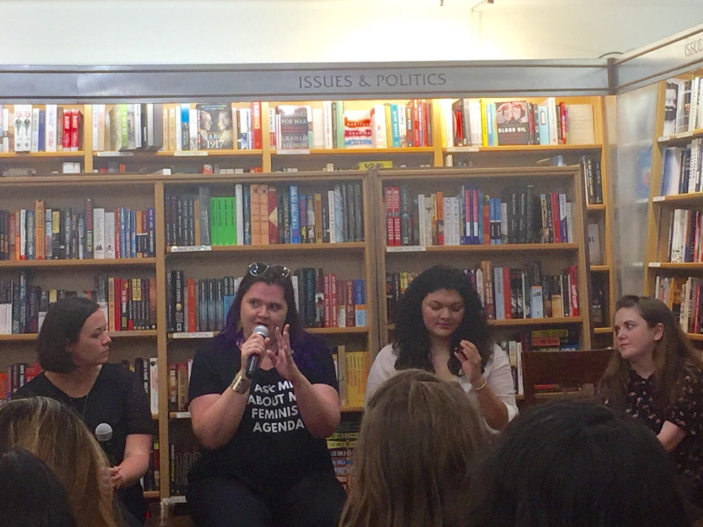 Tessa Bailey, Sarah MacLean, Zoraida Córdova, and Eliza Thompson in conversation